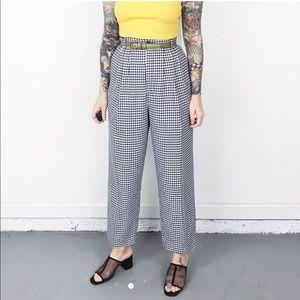 Vintage gingham high waisted pants